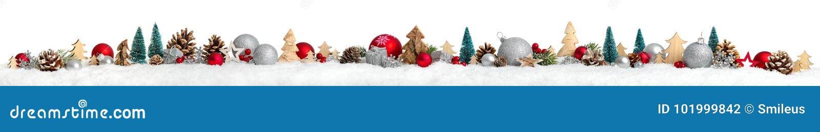 Boże Narodzenie granica lub sztandar, ekstra szeroki, biały tło,
