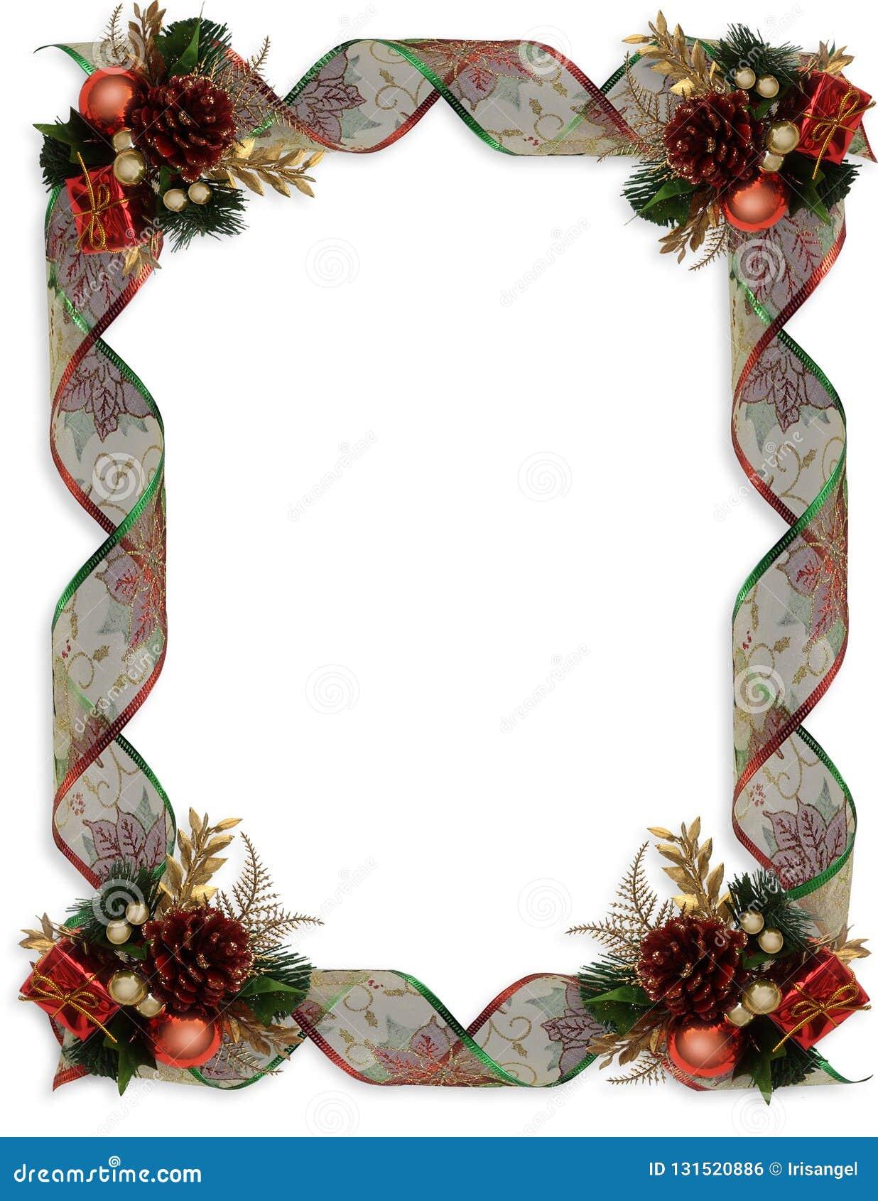 Boże Narodzenie granicy fantazji ornamenty i faborki
