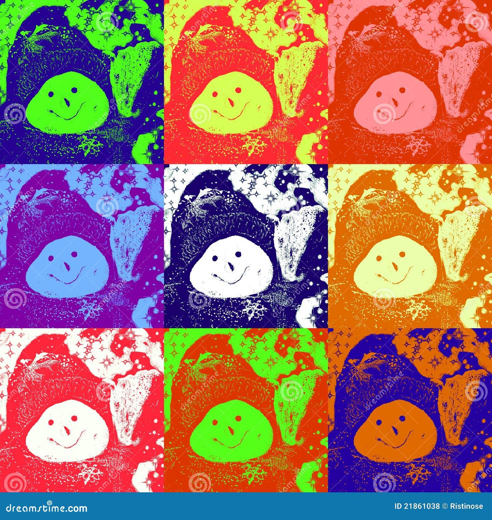 Boże narodzenie karciany bałwan