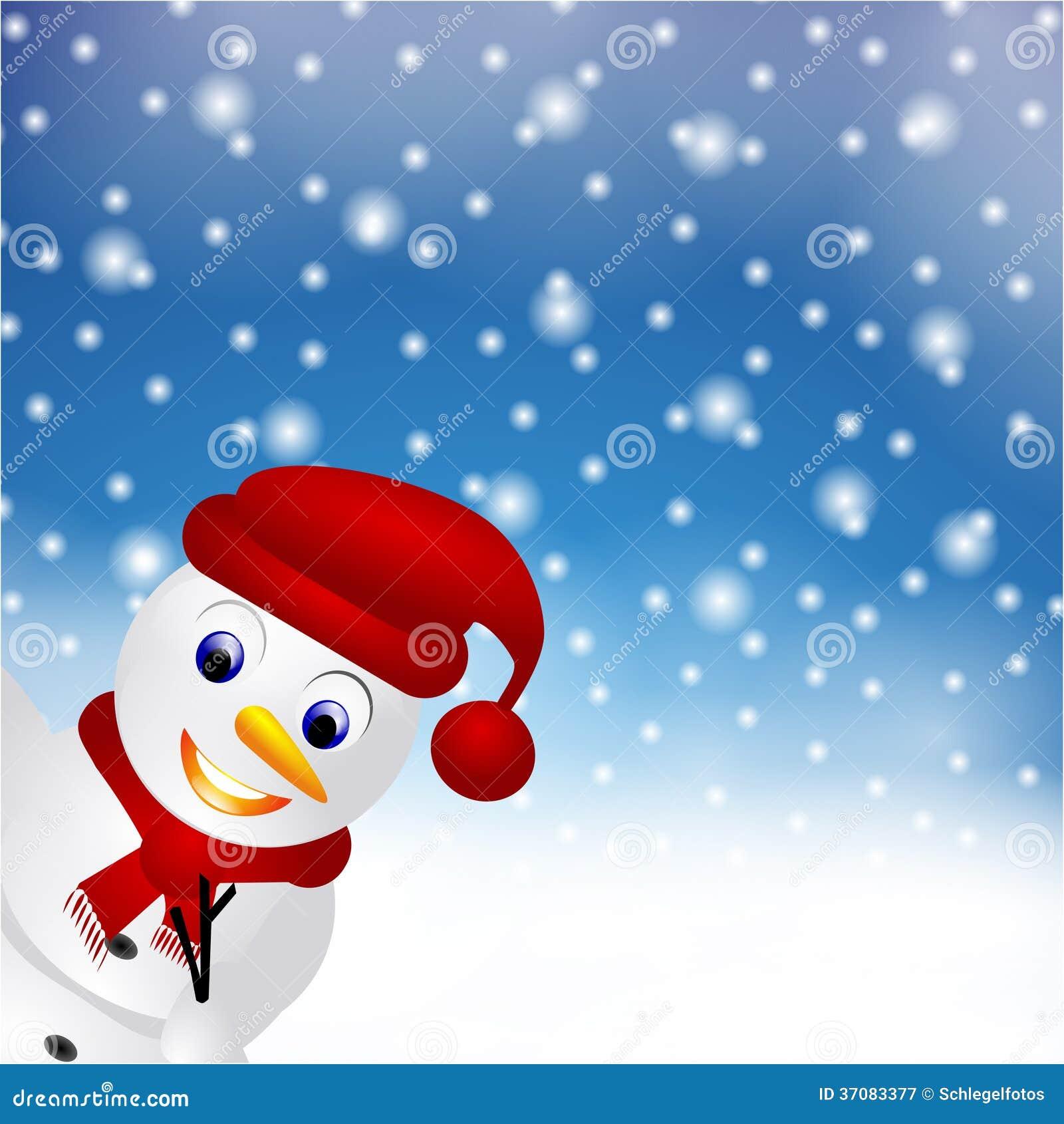 Download Boże Narodzenie Karty śniegu Bałwan Ilustracji - Ilustracja złożonej z kardamon, snowfall: 37083377
