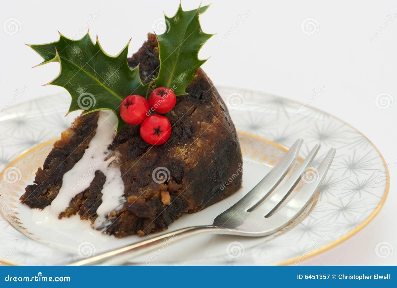 Boże narodzenie kawałek puddingu