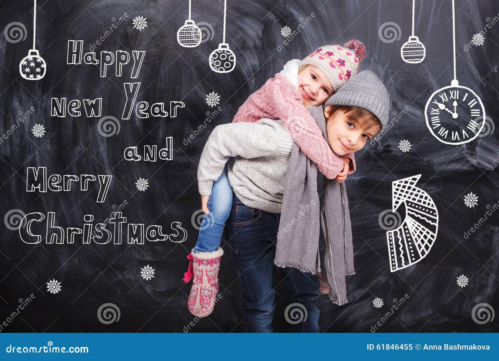 Boże narodzenie nowy rok szczęśliwy wesoło