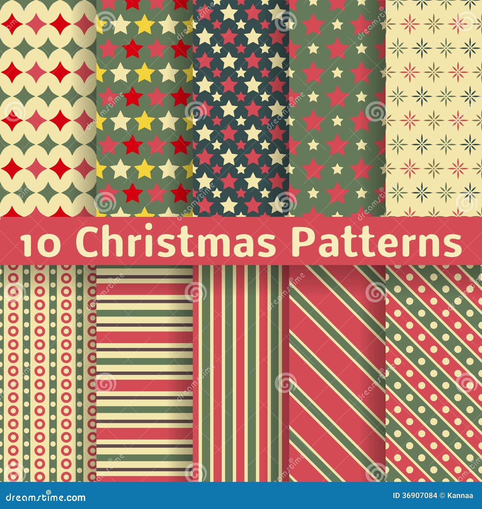Boże Narodzenie różni wektorowi bezszwowi wzory