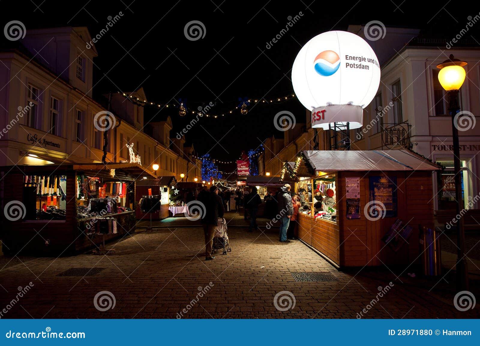 Boże Narodzenie rynek w Potsdam, Niemcy