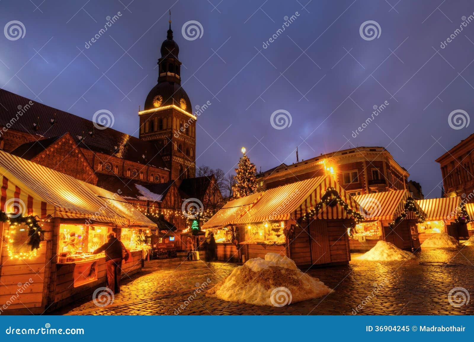 Boże Narodzenie rynek w Ryskim