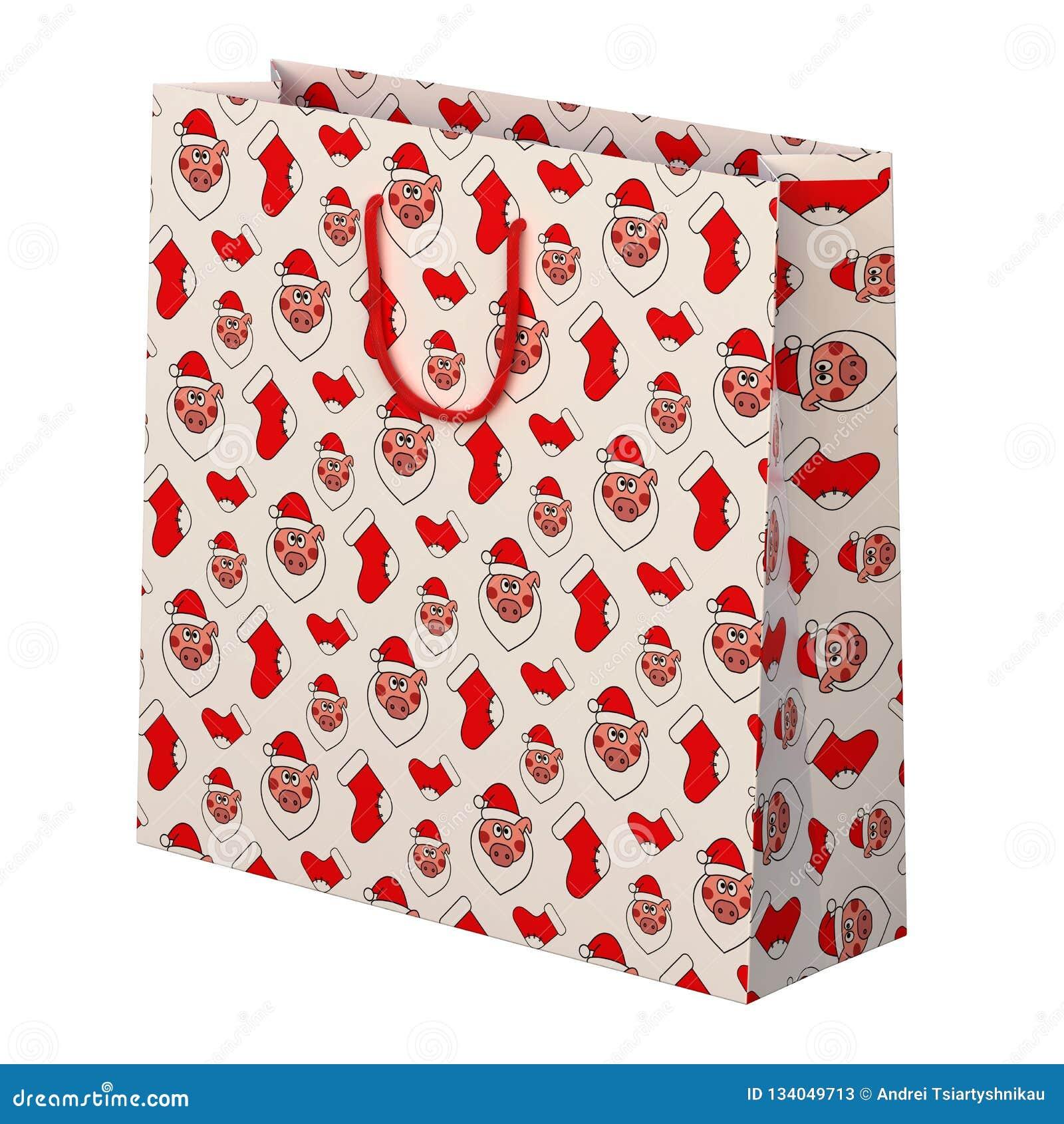Bożenarodzeniowa prezent torba Prezent z wizerunkiem świniowata twarz świadczenia 3 d