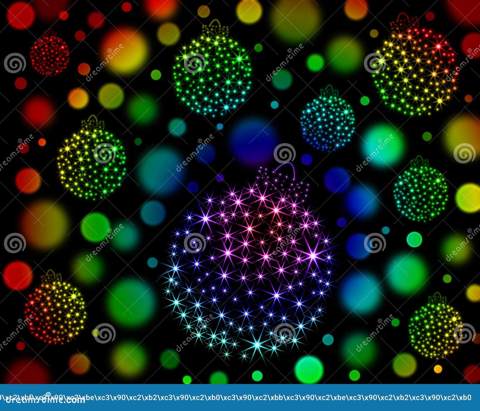 Download Bożenarodzeniowe Piłki Gwiazdy Ilustracji - Ilustracja złożonej z purpury, plama: 37081681