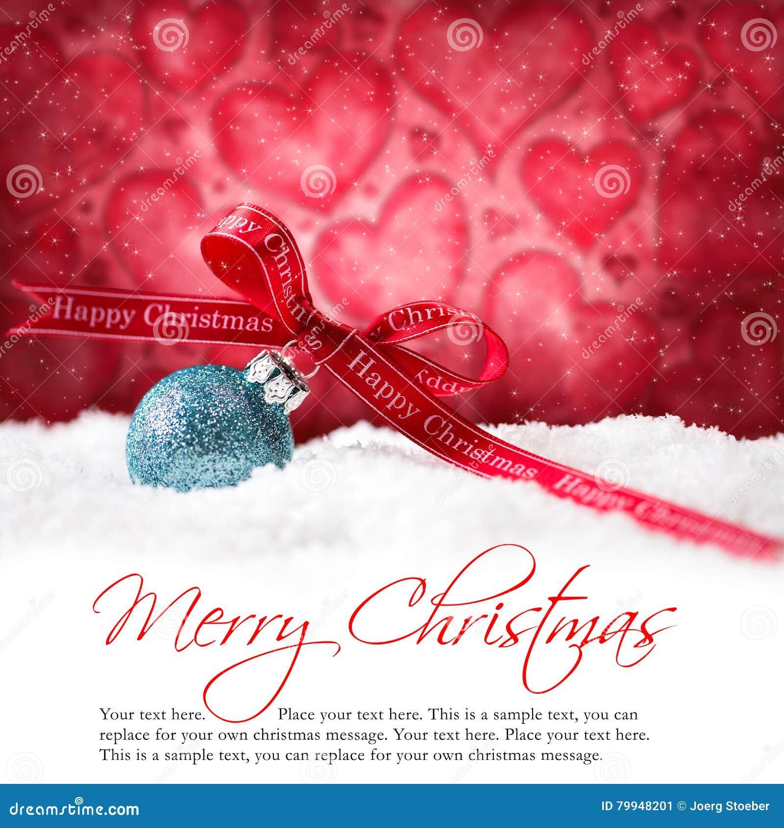 Bożenarodzeniowe piłki w śniegu z x22 &; wesoło christmas& x22; wiadomość