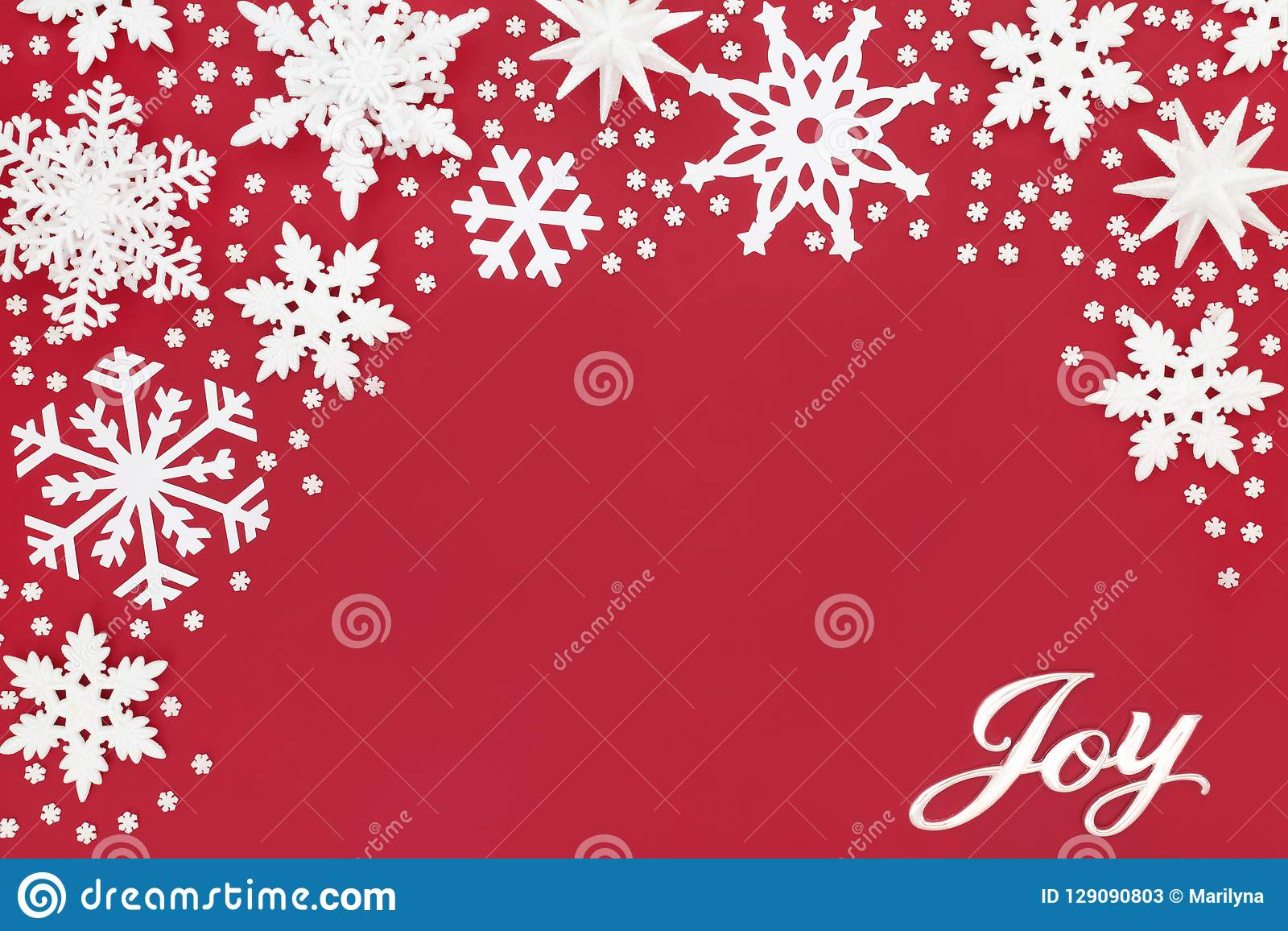 Bożenarodzeniowe radość płatka śniegu i znaka dekoracje