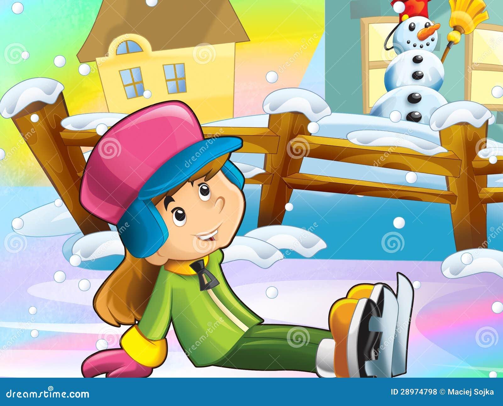 Bożenarodzeniowej zabawy lodowe łyżwy