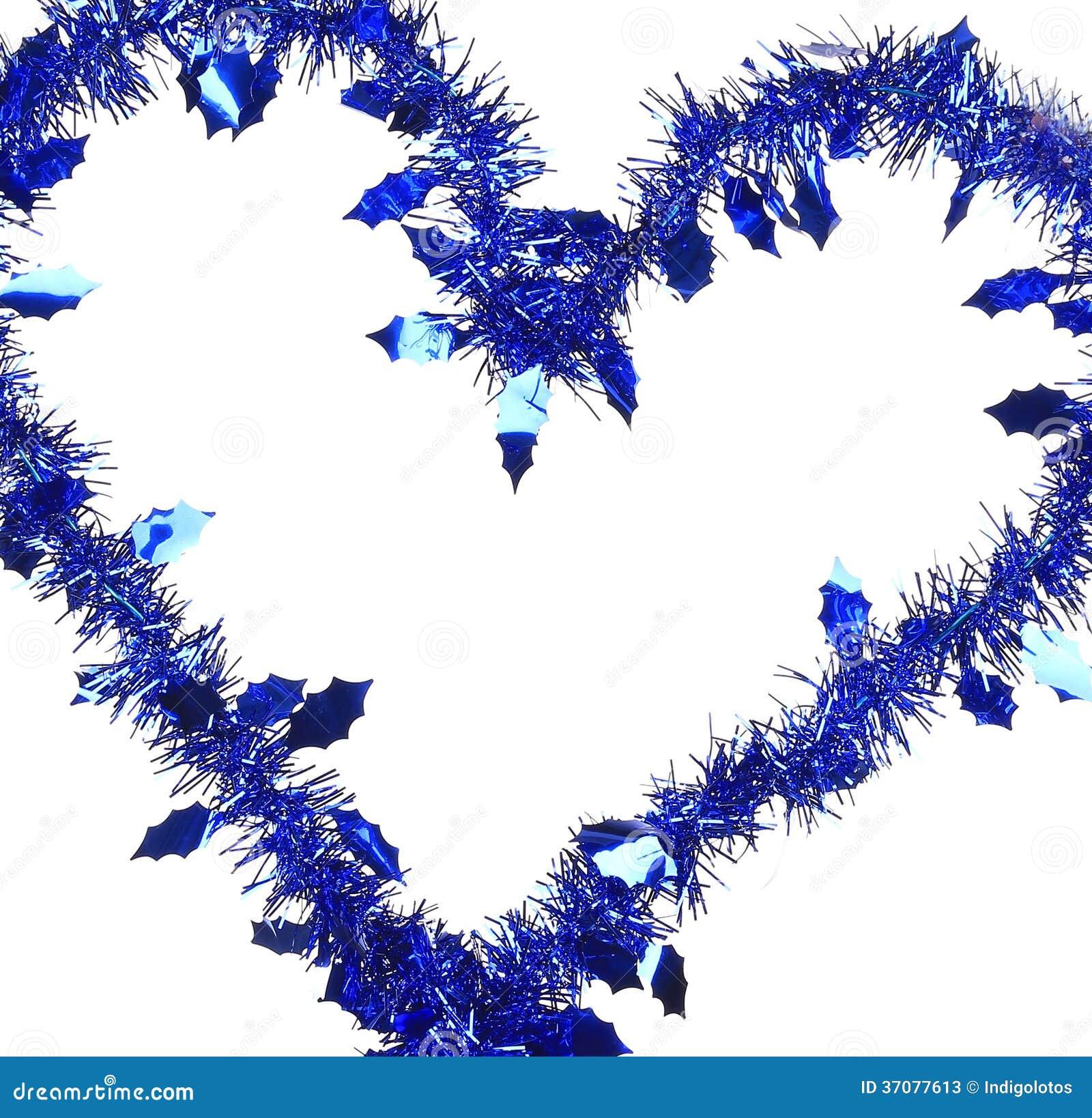 Download Bożenarodzeniowy Błękitny świecidełko W Formie Serce. Obraz Stock - Obraz złożonej z jaskrawy, ornament: 37077613
