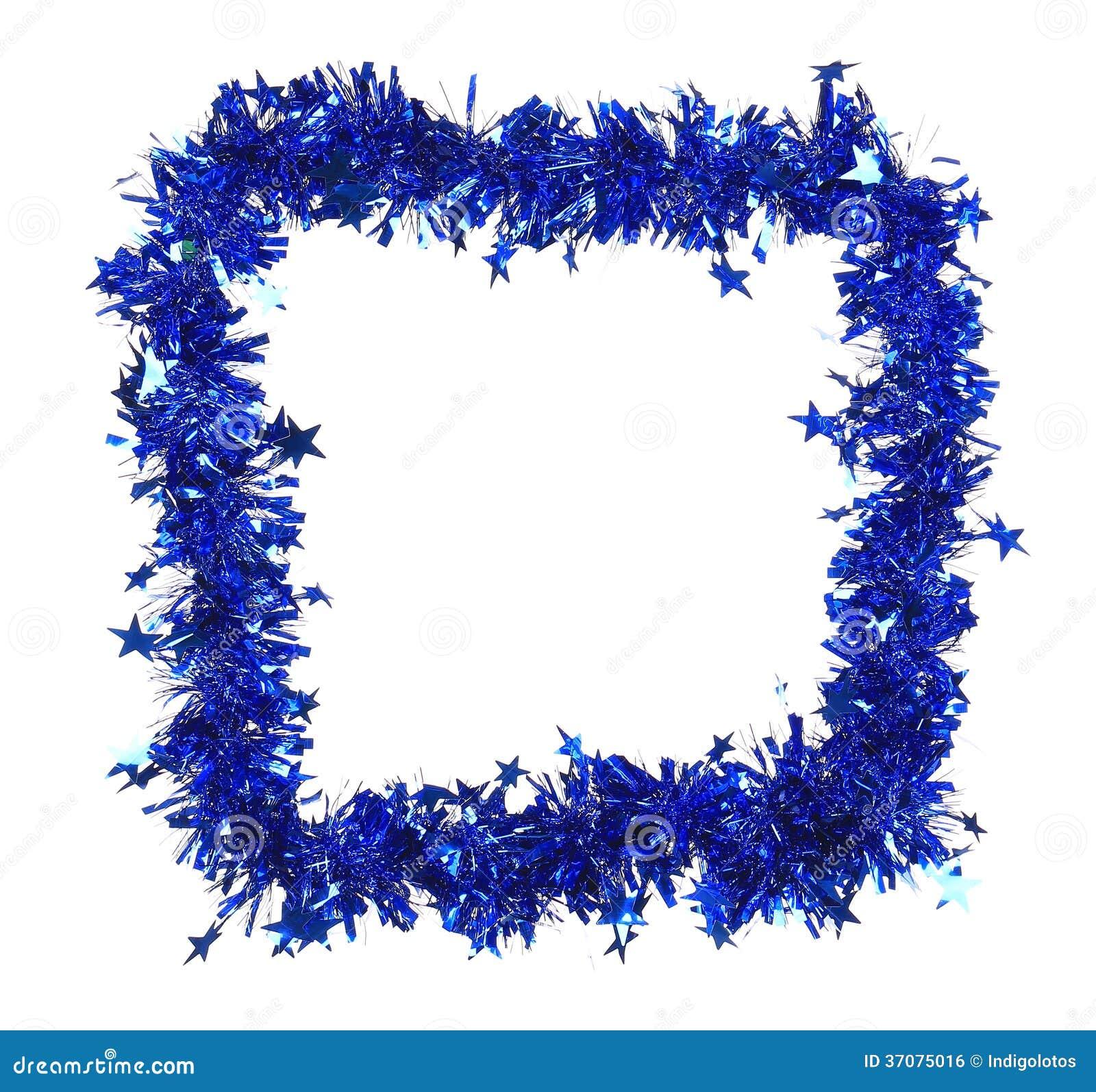 Download Bożenarodzeniowy Błękitny świecidełko Z Gwiazdami Jak Ramę. Zdjęcie Stock - Obraz złożonej z wakacje, feston: 37075016