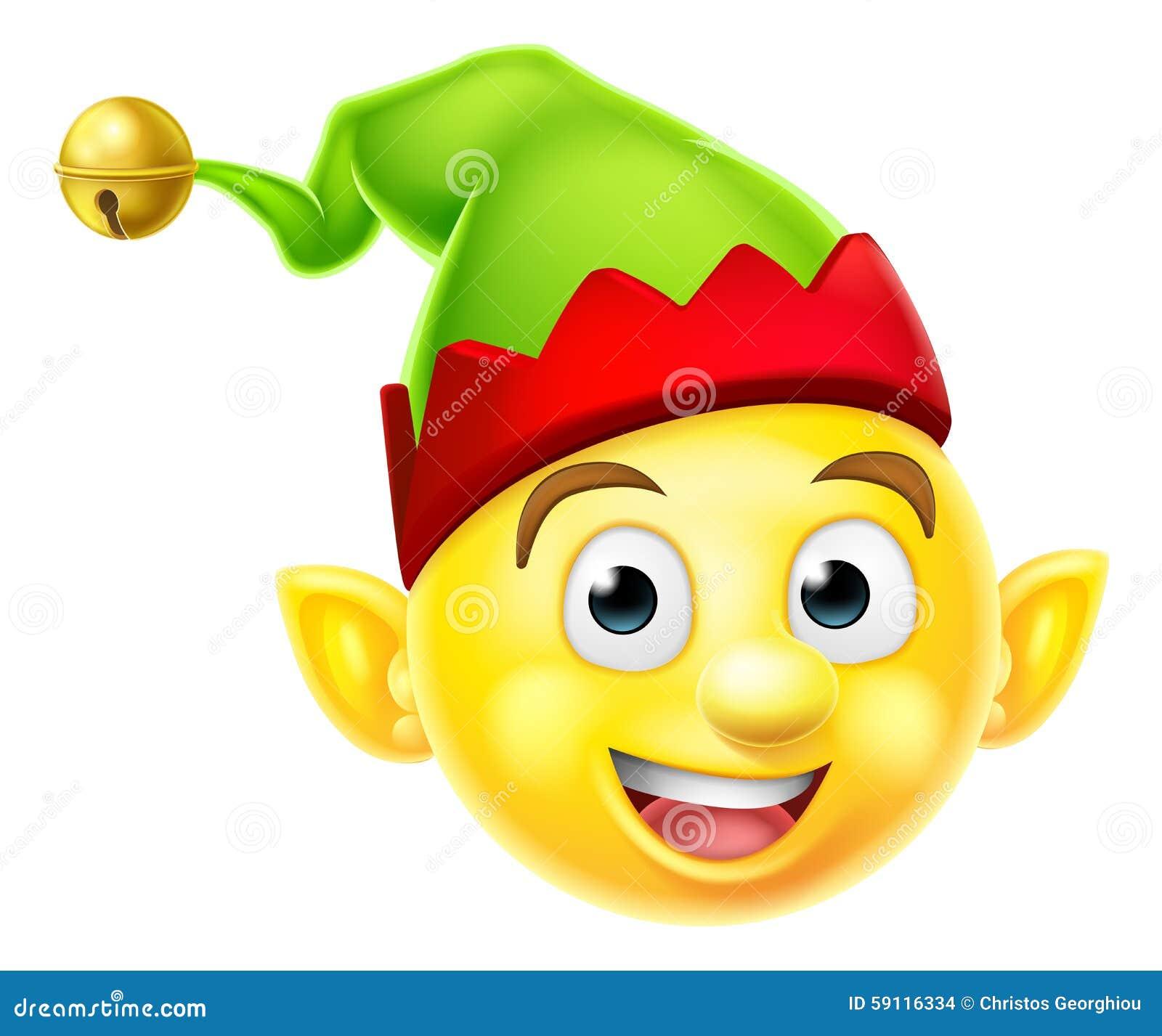 Bożenarodzeniowy elfa Emoticon