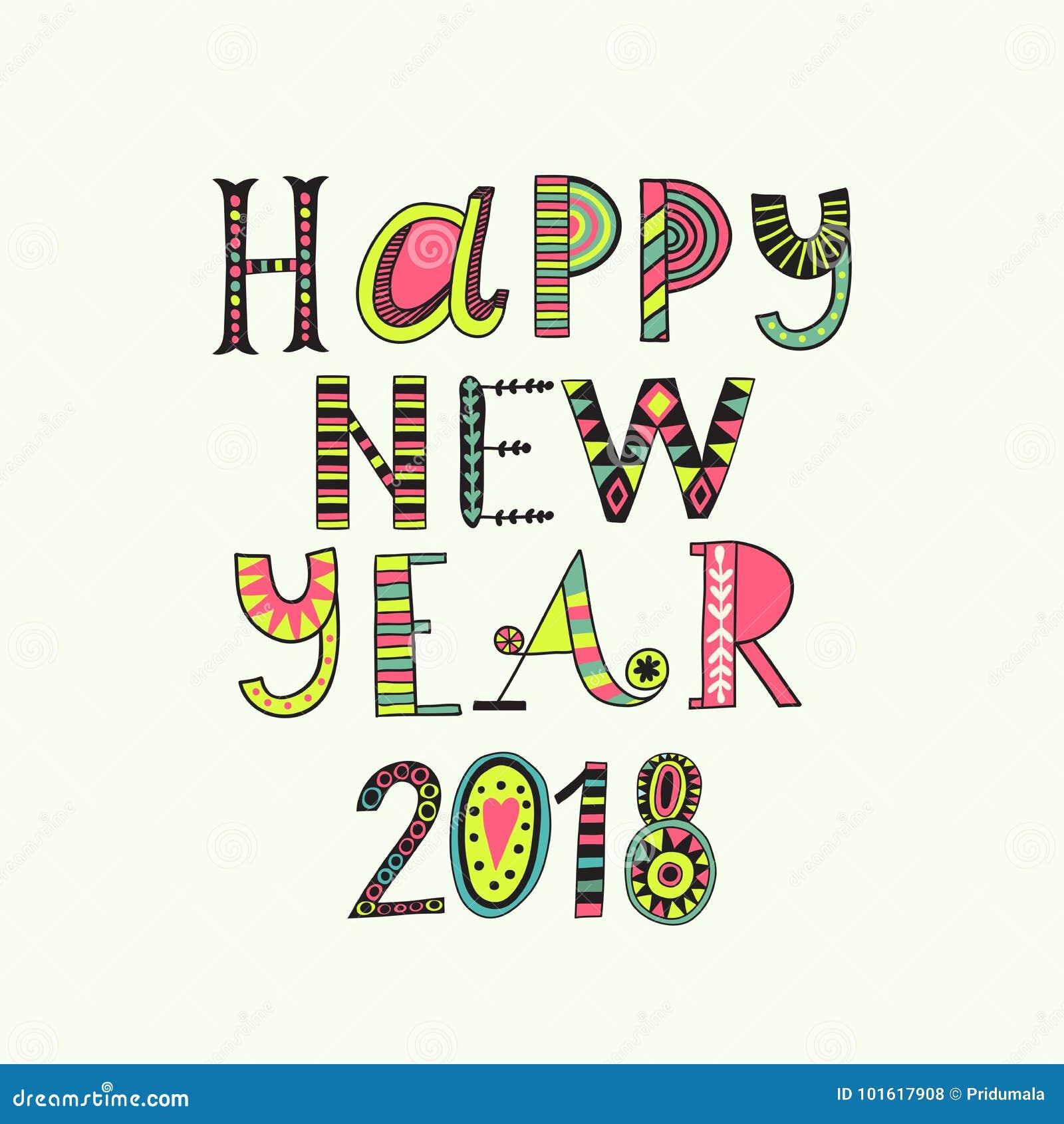 Bożenarodzeniowy kartka z pozdrowieniami szablon, wektorowy Szczęśliwy nowego roku literowanie