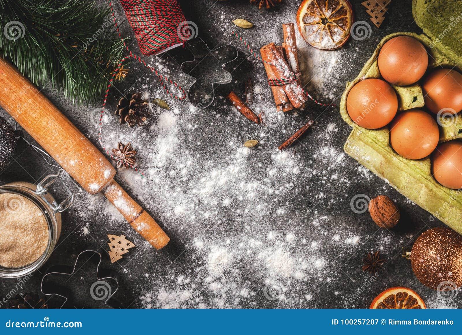 Bożenarodzeniowy kulinarny wypiekowy tło
