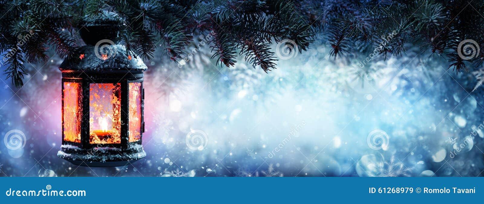 Bożenarodzeniowy lampion Na śniegu