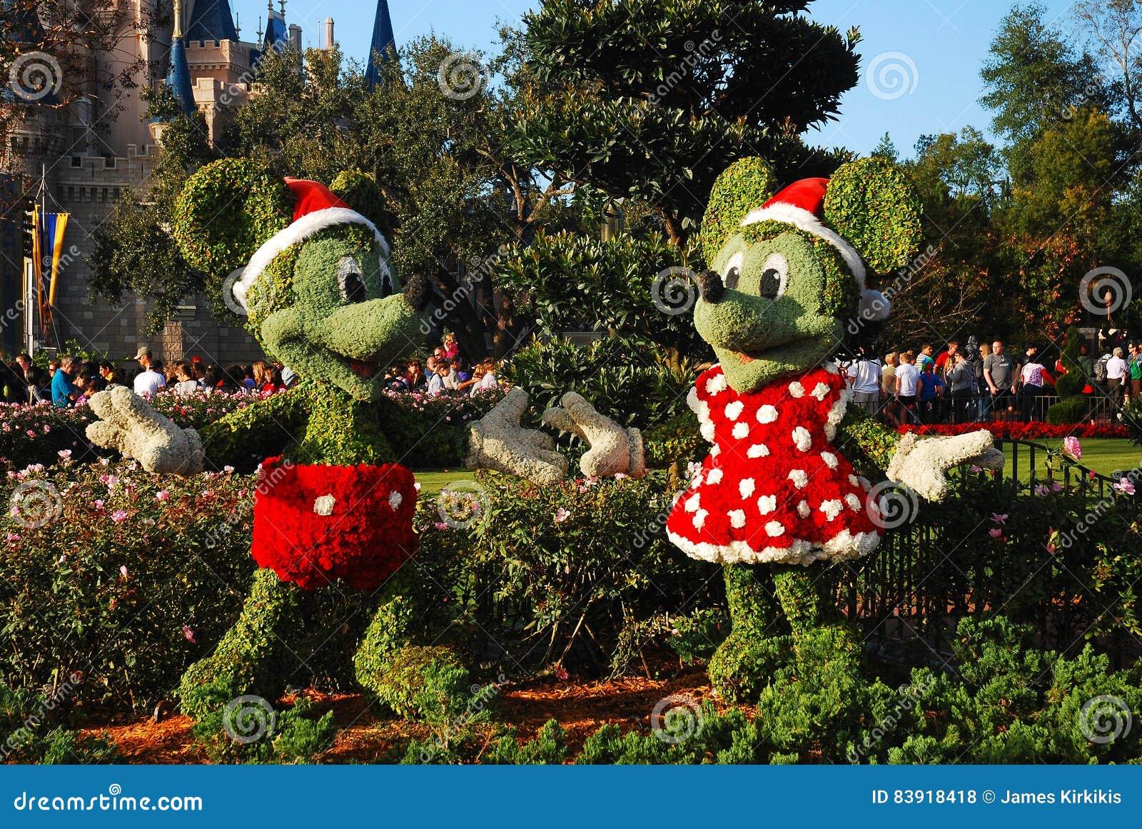 Bożenarodzeniowy Mickey i Minnie