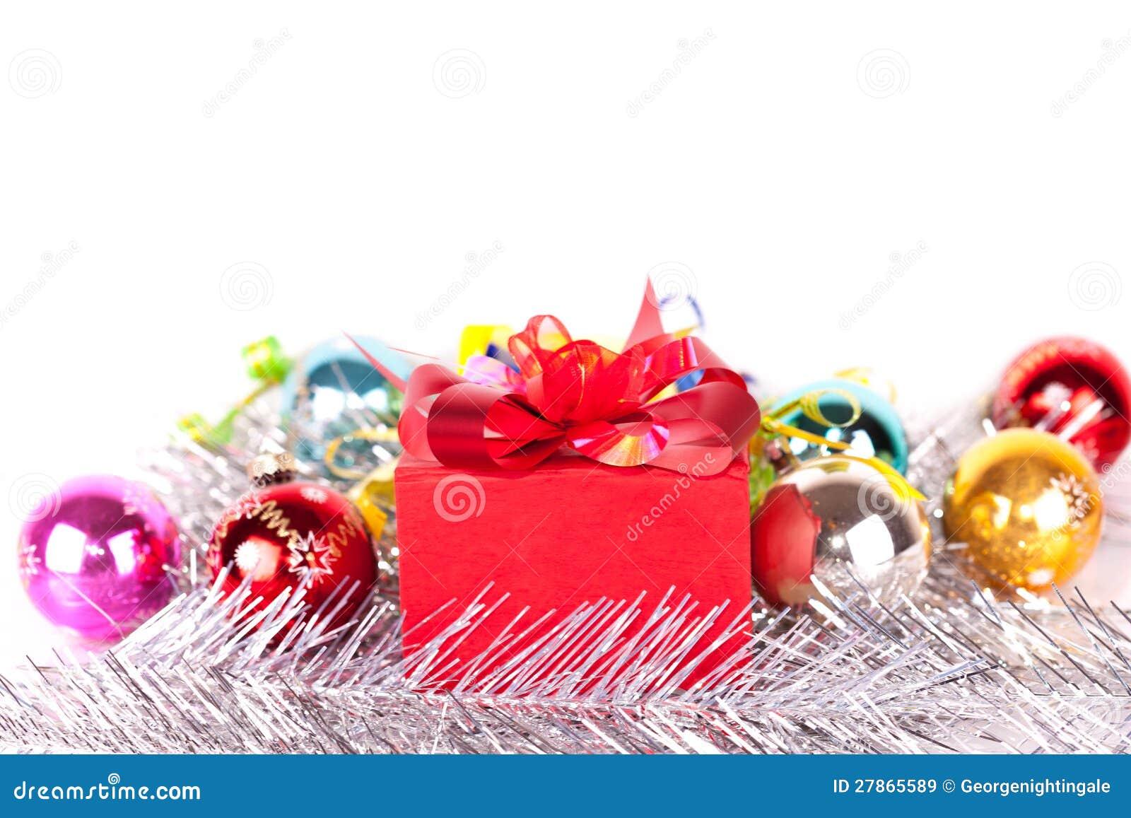 Bożenarodzeniowy prezent i baubles