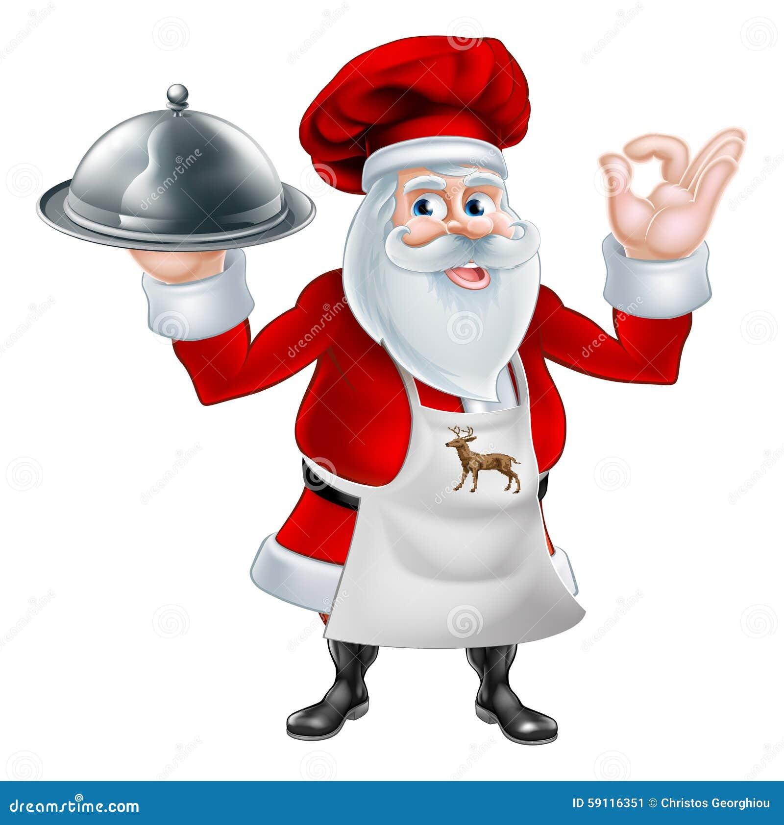 Bożenarodzeniowy Santa Cook szef kuchni
