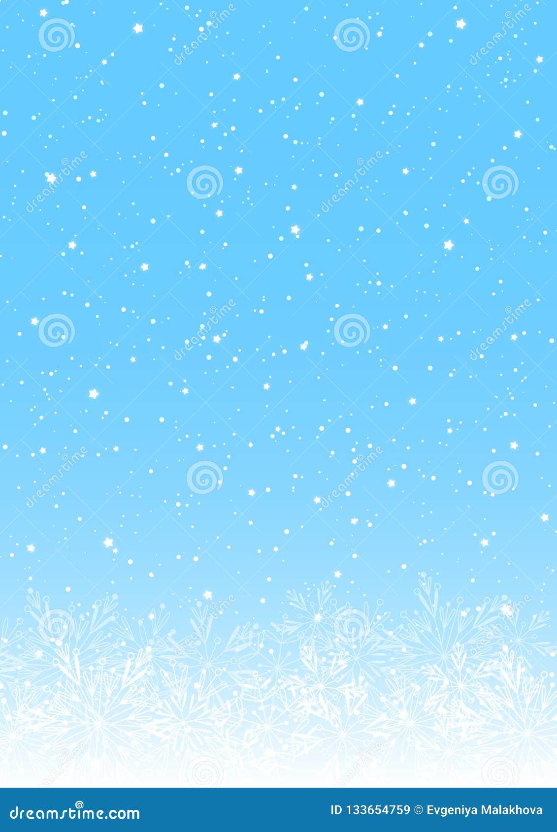 Bożenarodzeniowy tło z błyszczącymi płatkami śniegu