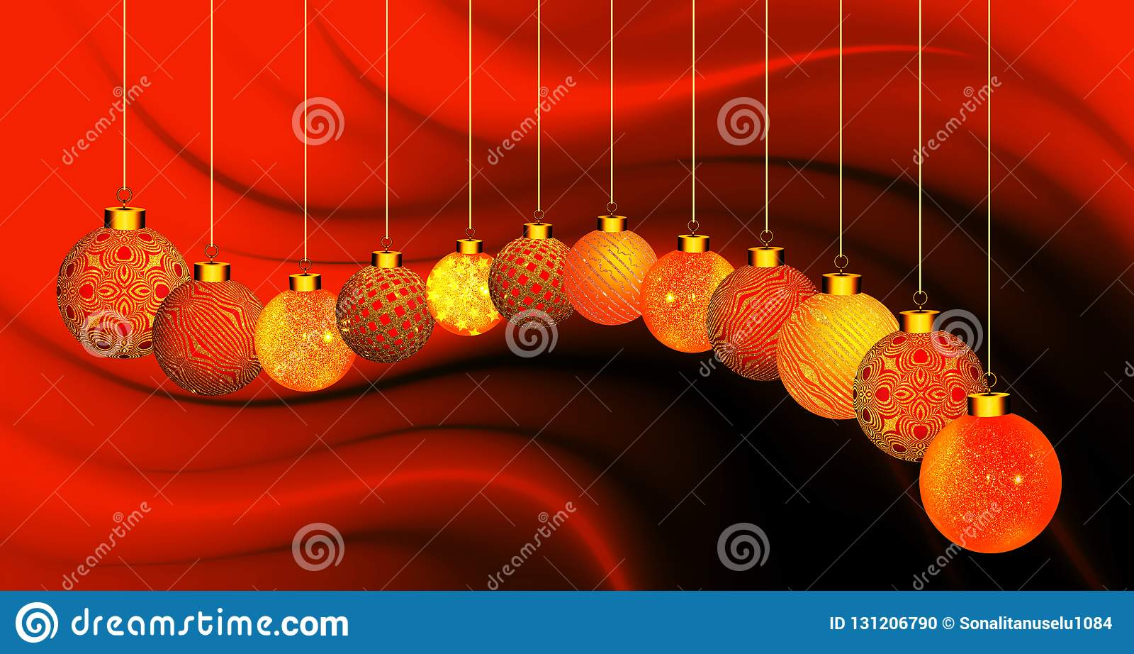 Bożenarodzeniowy tło z pomarańcze i złocistym ornamentem na falistym tle pomarańczowym i czarnym