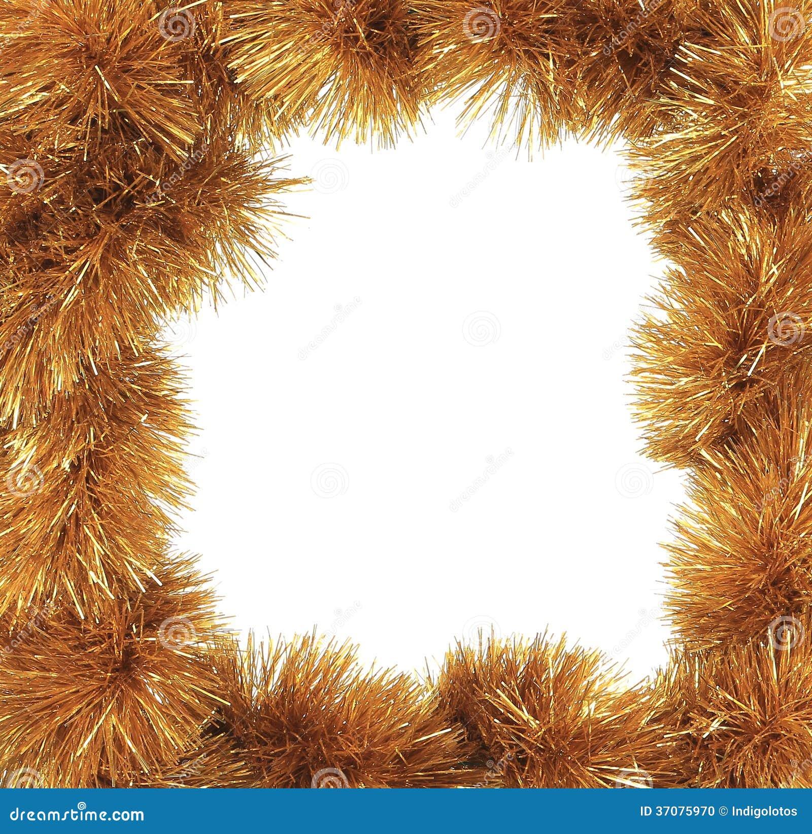 Download Bożenarodzeniowy Złoty świecidełko Jak Ramę. Zdjęcie Stock - Obraz złożonej z nowy, wakacje: 37075970