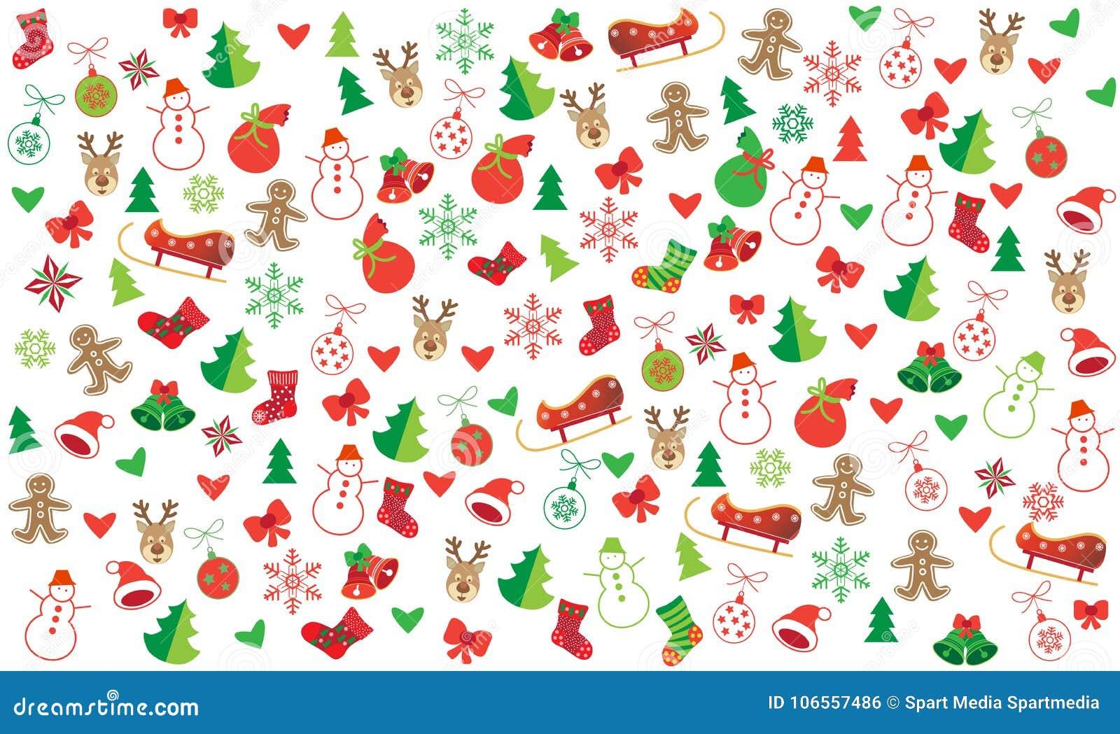 Bożenarodzeniowych symboli/lów świąteczny bezszwowy wzór