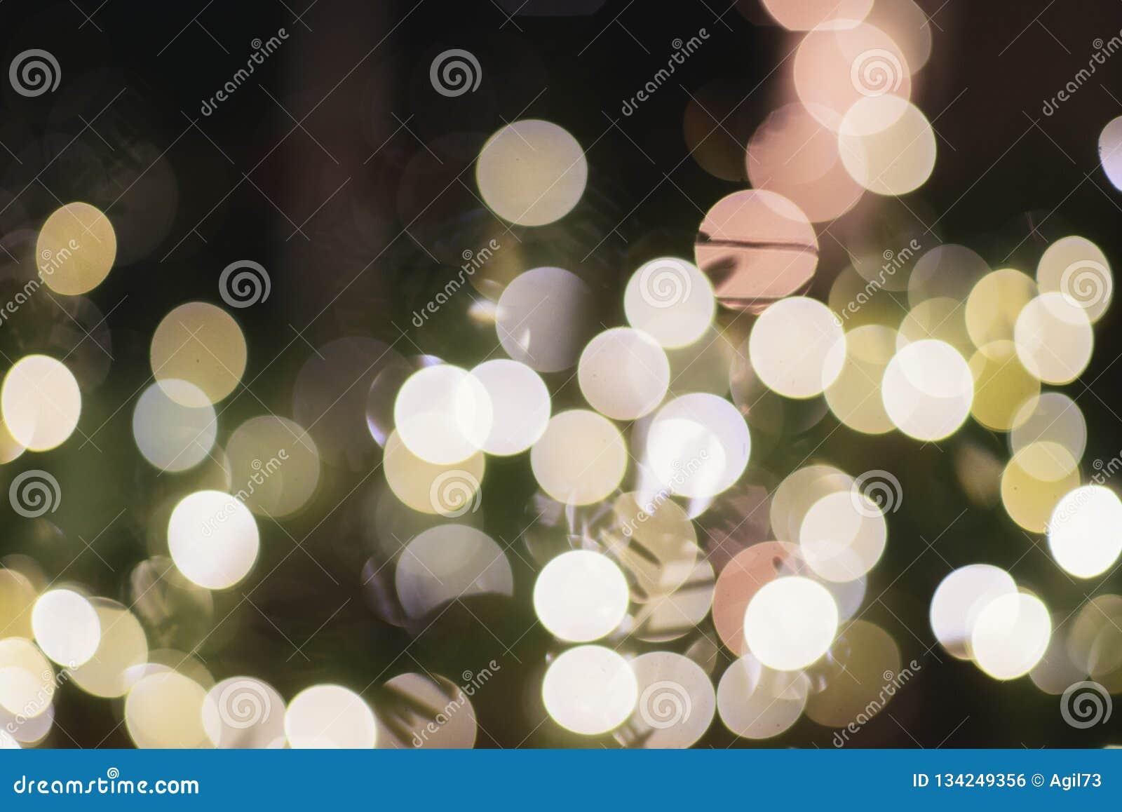 Bożonarodzeniowe Światła Bokeh wakacji dekoracji boże narodzenia Spirytusowi