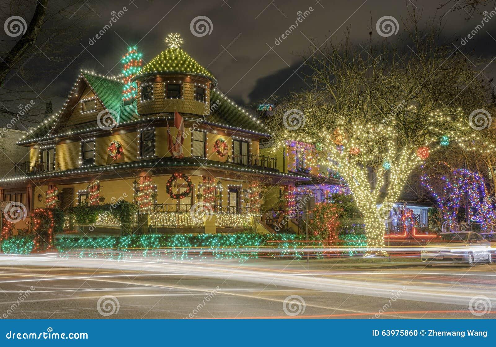 Bożonarodzeniowe światła domowa dekoracja