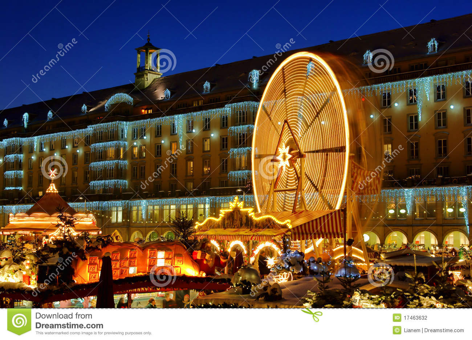 Bożych narodzeń Dresden rynek