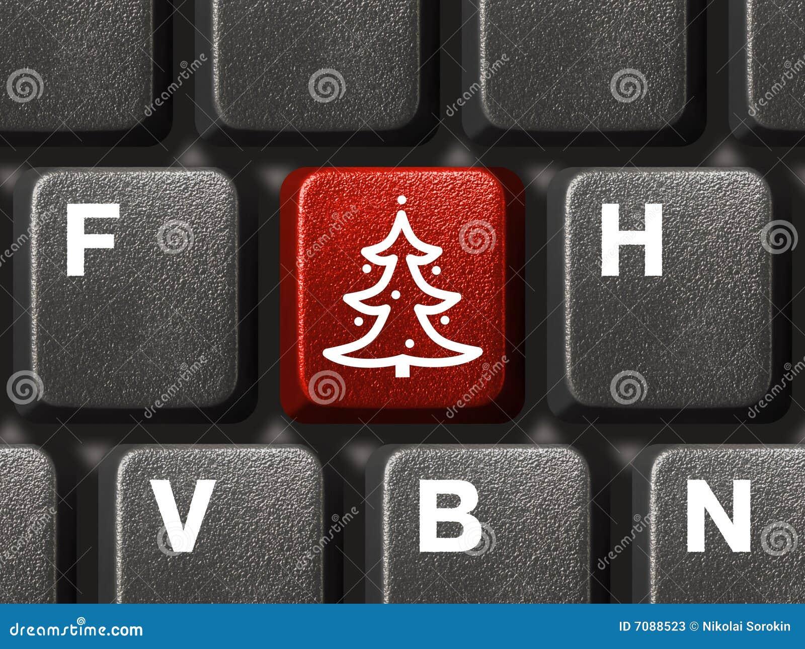 Bożych narodzeń komputerowego klucza klawiatury drzewo