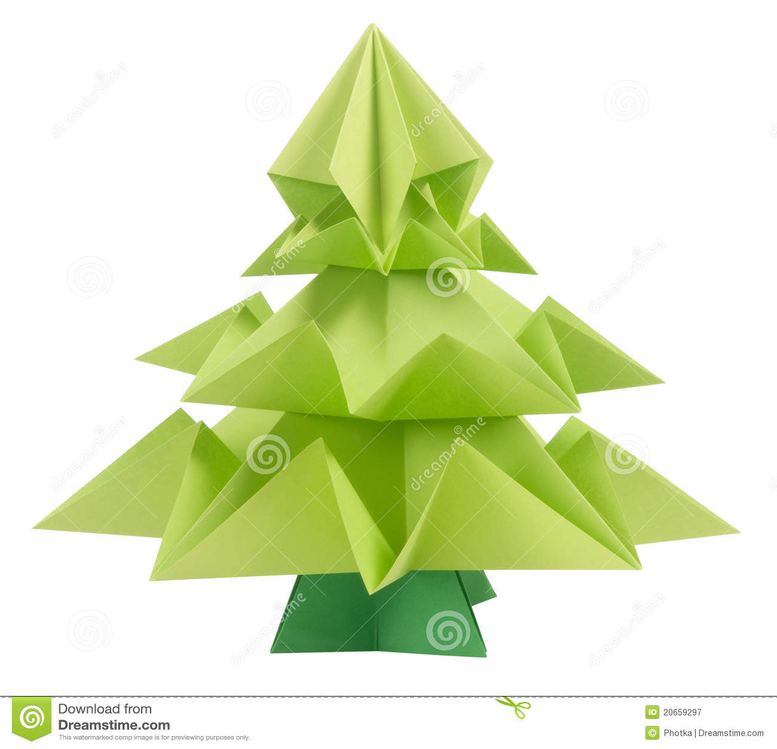 Bożych narodzeń origami drzewo