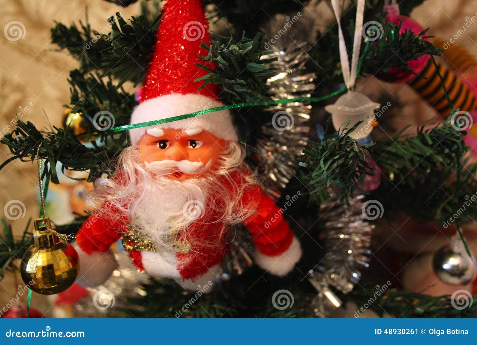 Bożych narodzeń Santa drzewo