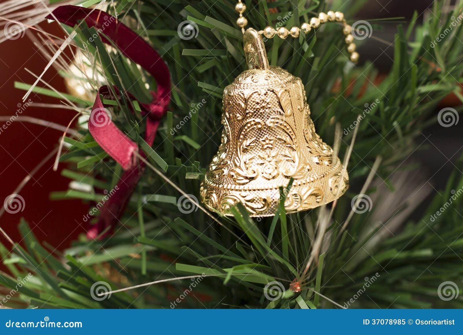 Download Bożenarodzeniowa Dekoracja Z Jeden Dzwonami Obraz Stock - Obraz złożonej z światła, dzwon: 37078985