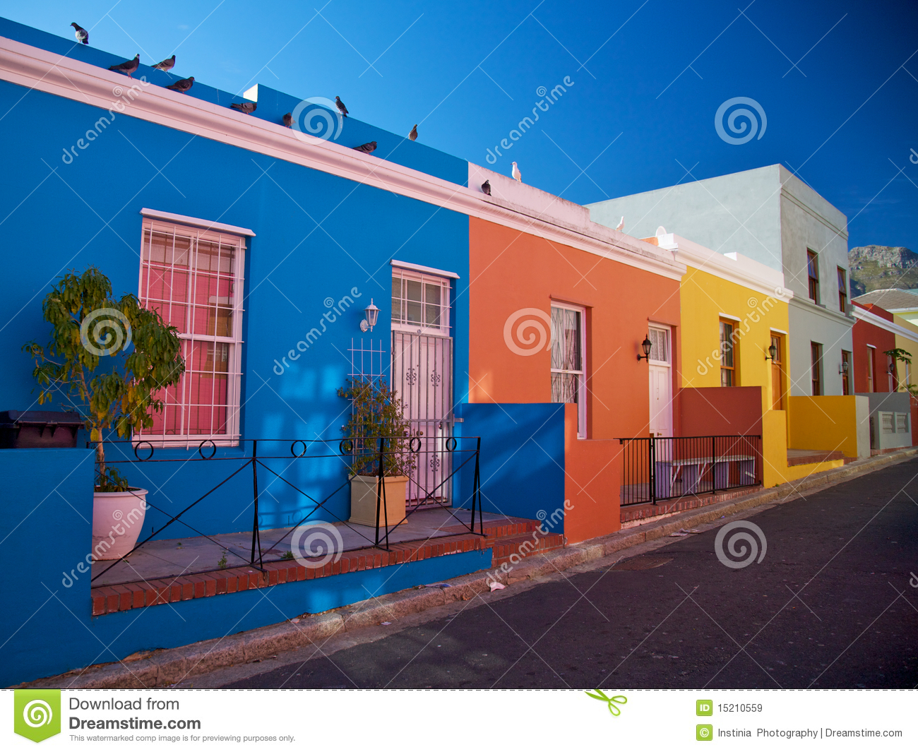 Bo Kaap District Cape Town South Africa Royalty Free
