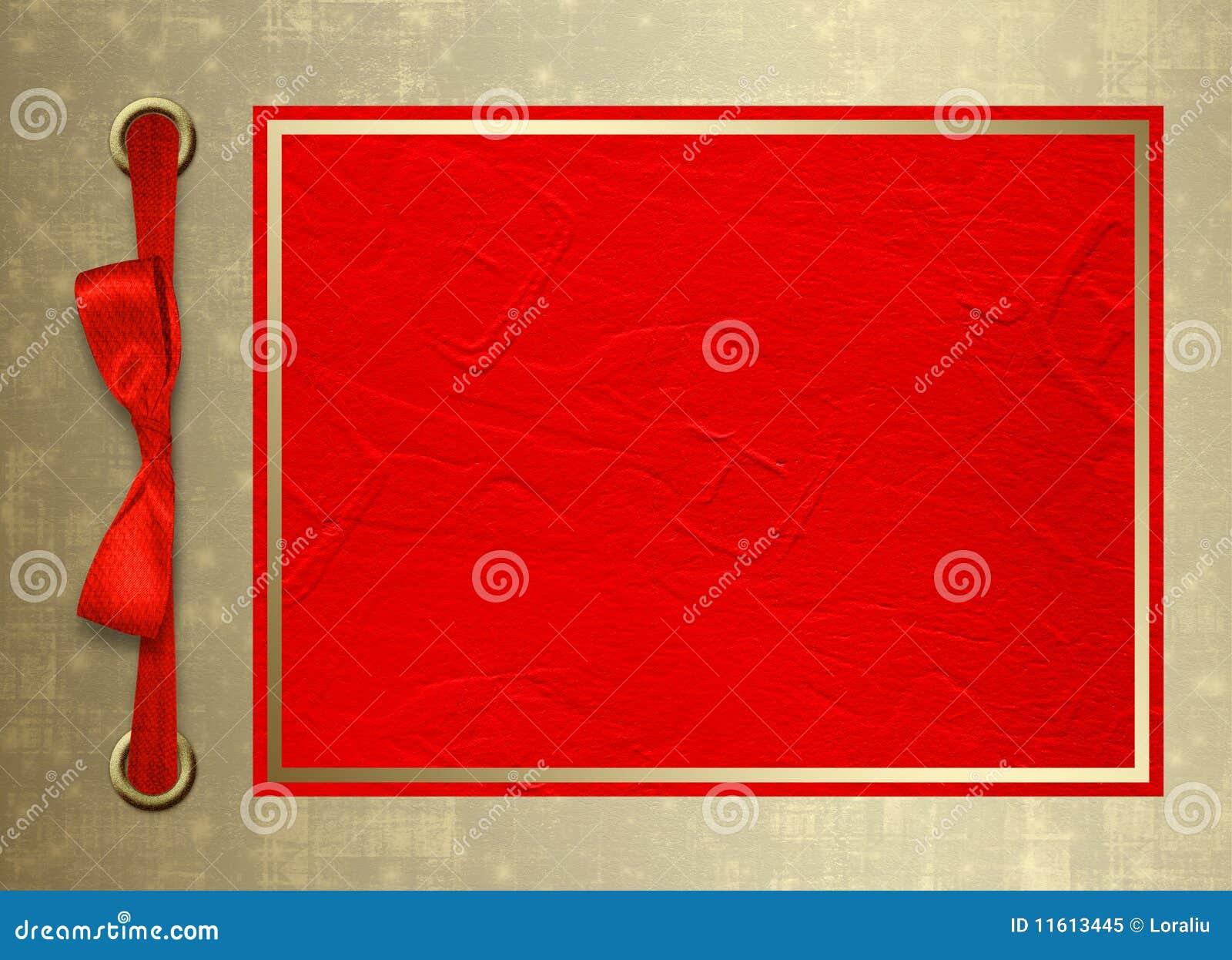 Bo karcianej ramy złocista zaproszenia czerwień