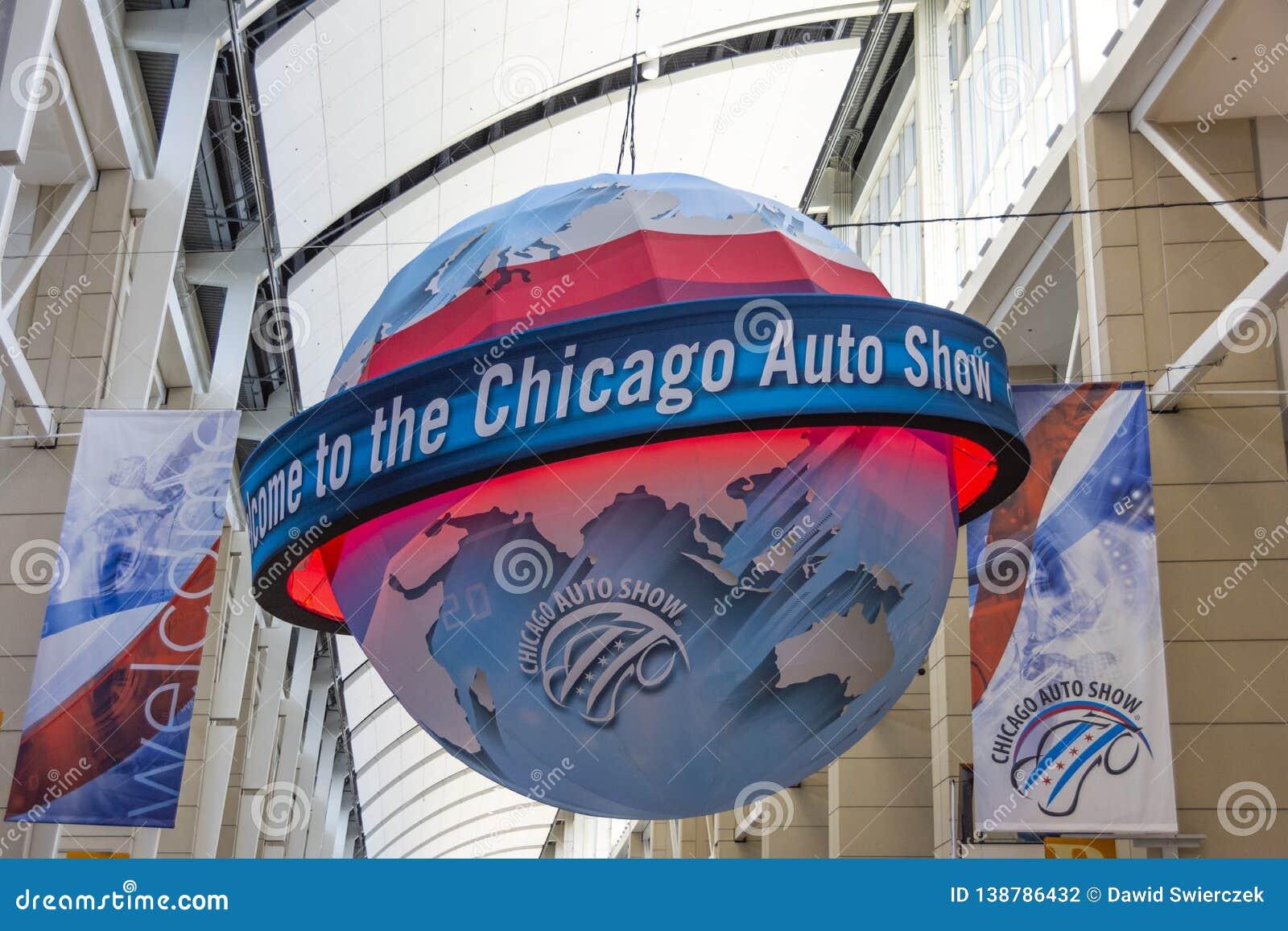 Boa vinda à feira automóvel de Chicago