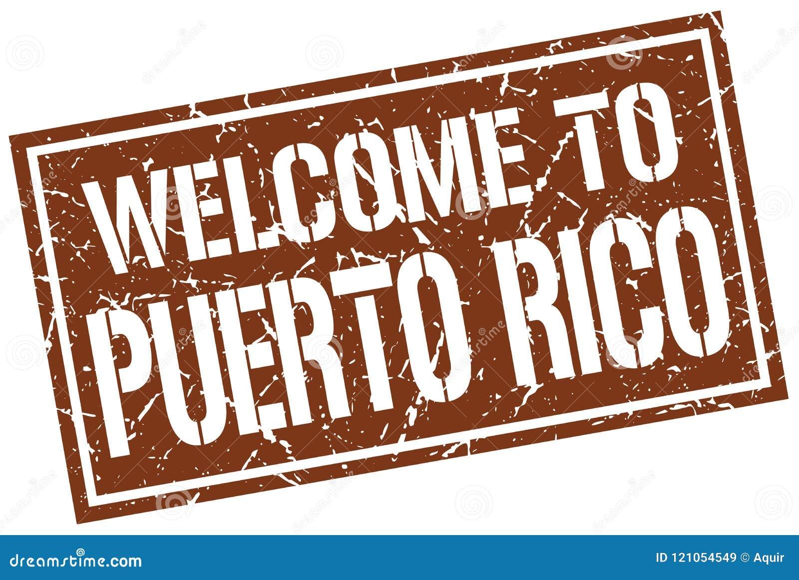Boa vinda ao selo de Porto Rico
