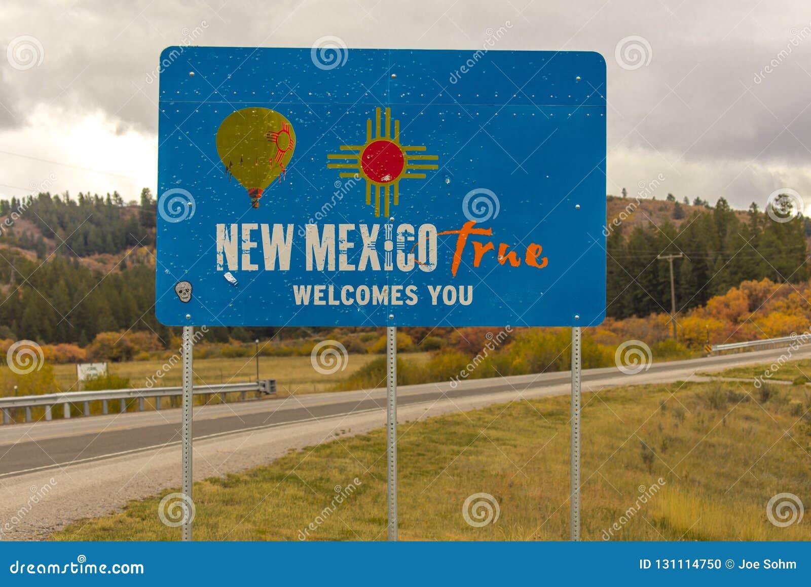 Boa vinda ao sinal do estado de New mexico