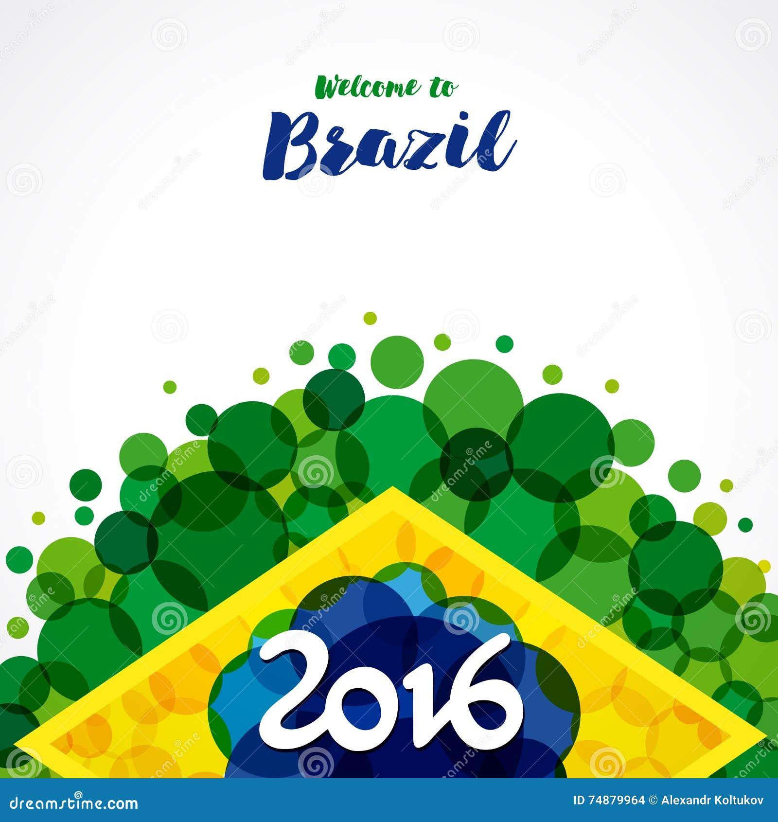 Boa vinda 2016 a Brasil