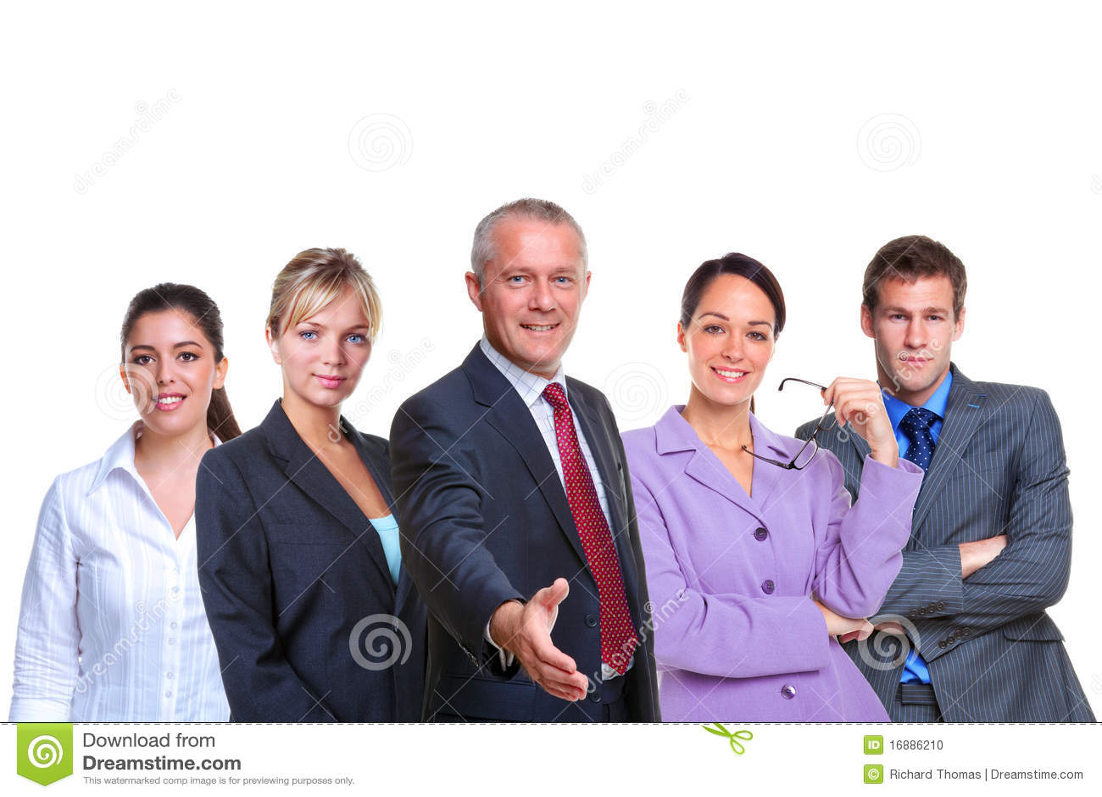 Boa vinda da equipe do negócio