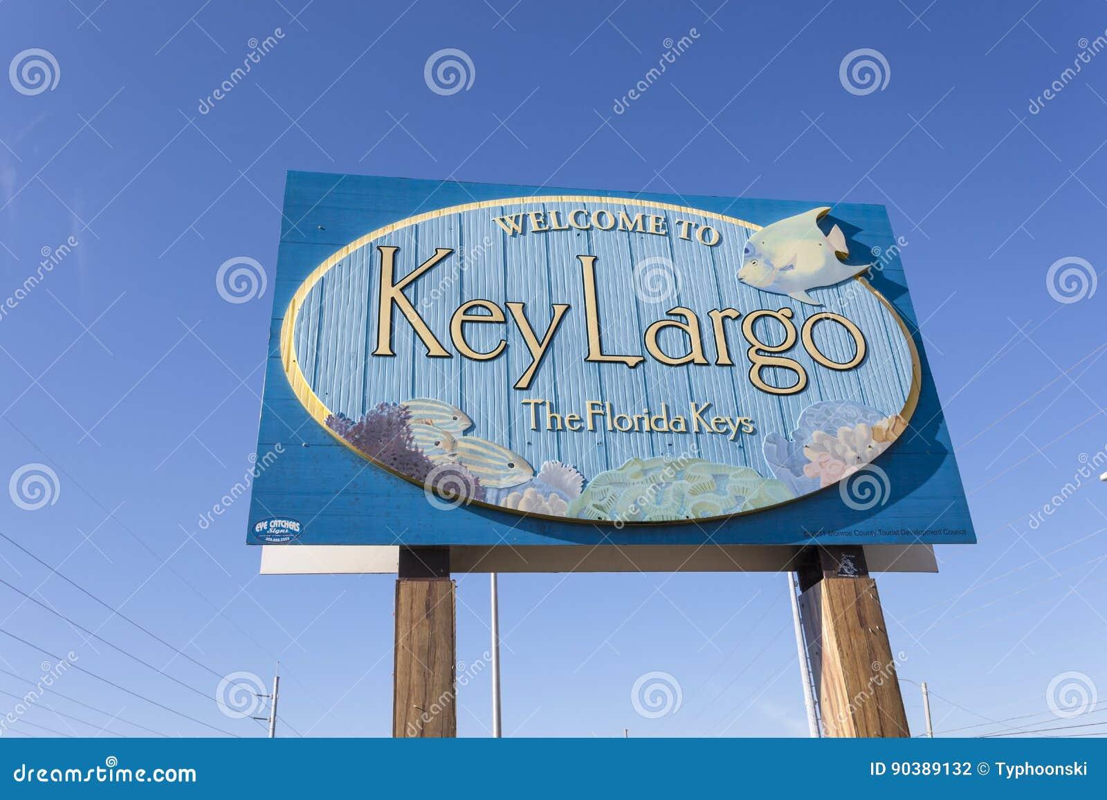 Boa vinda para fechar o sinal do Largo, Florida