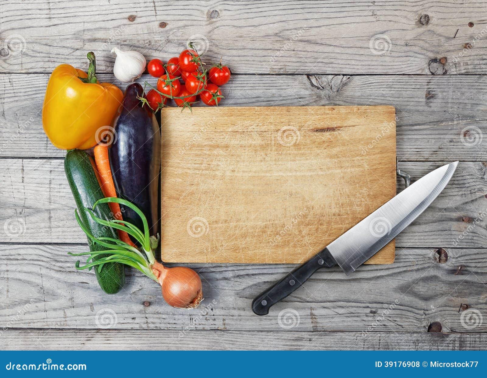 Board cooking ingredient knife