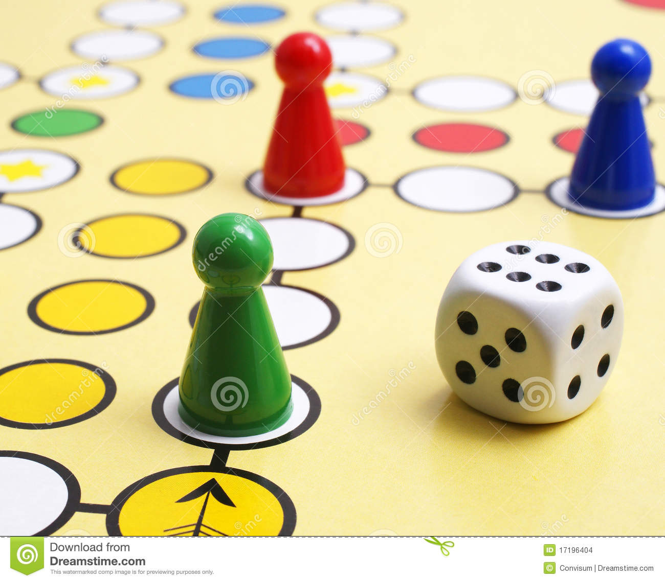 Board Game And Dice Stock Images - Image: 17196404