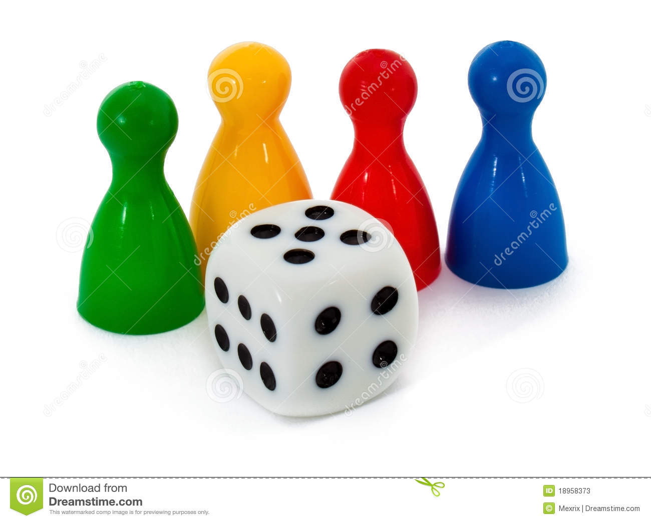 Board Game Figures And Dice Stock Photos Image 18958373