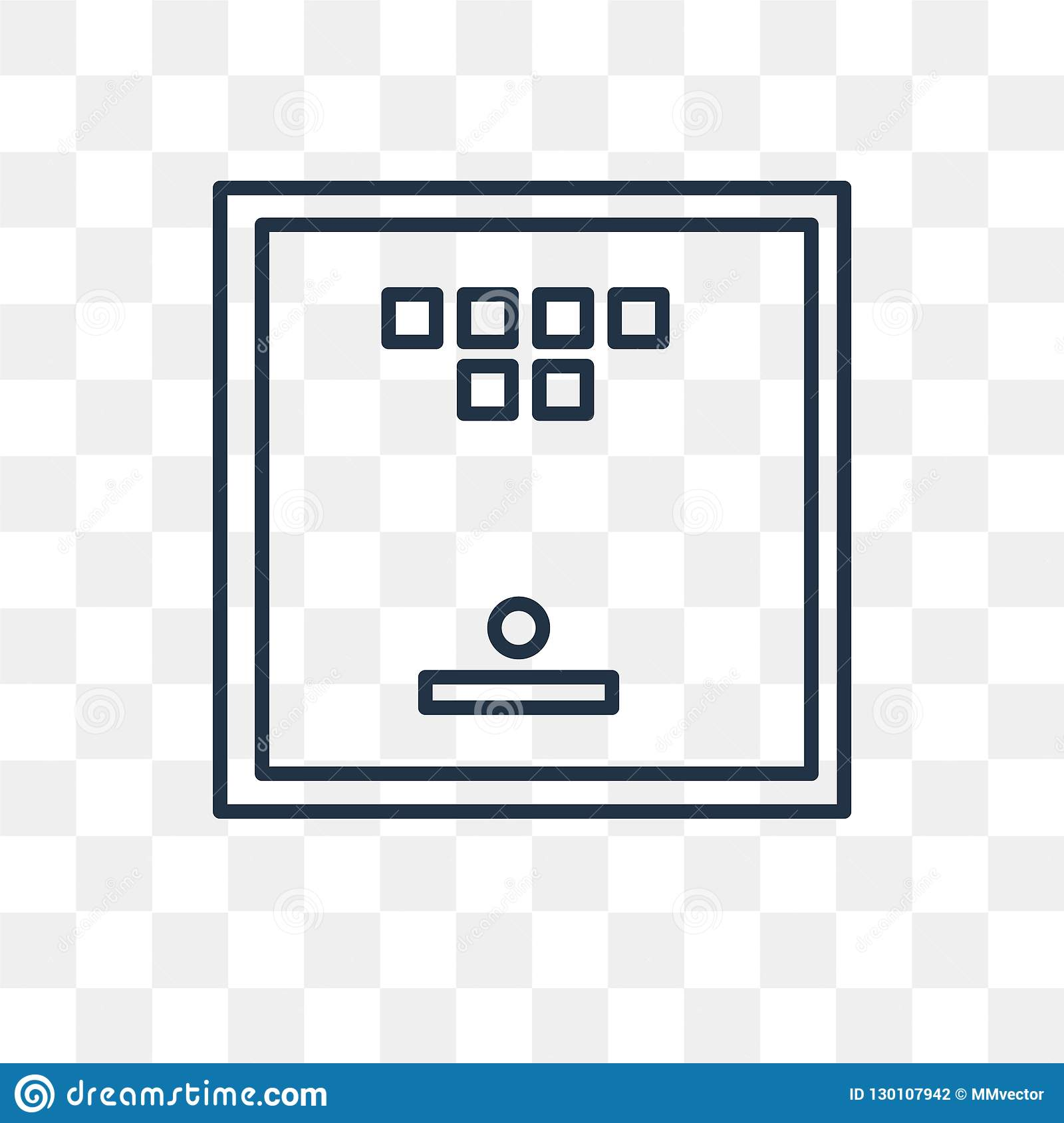 Board Game Vector Icon Isolated On Transparent Background, Linea