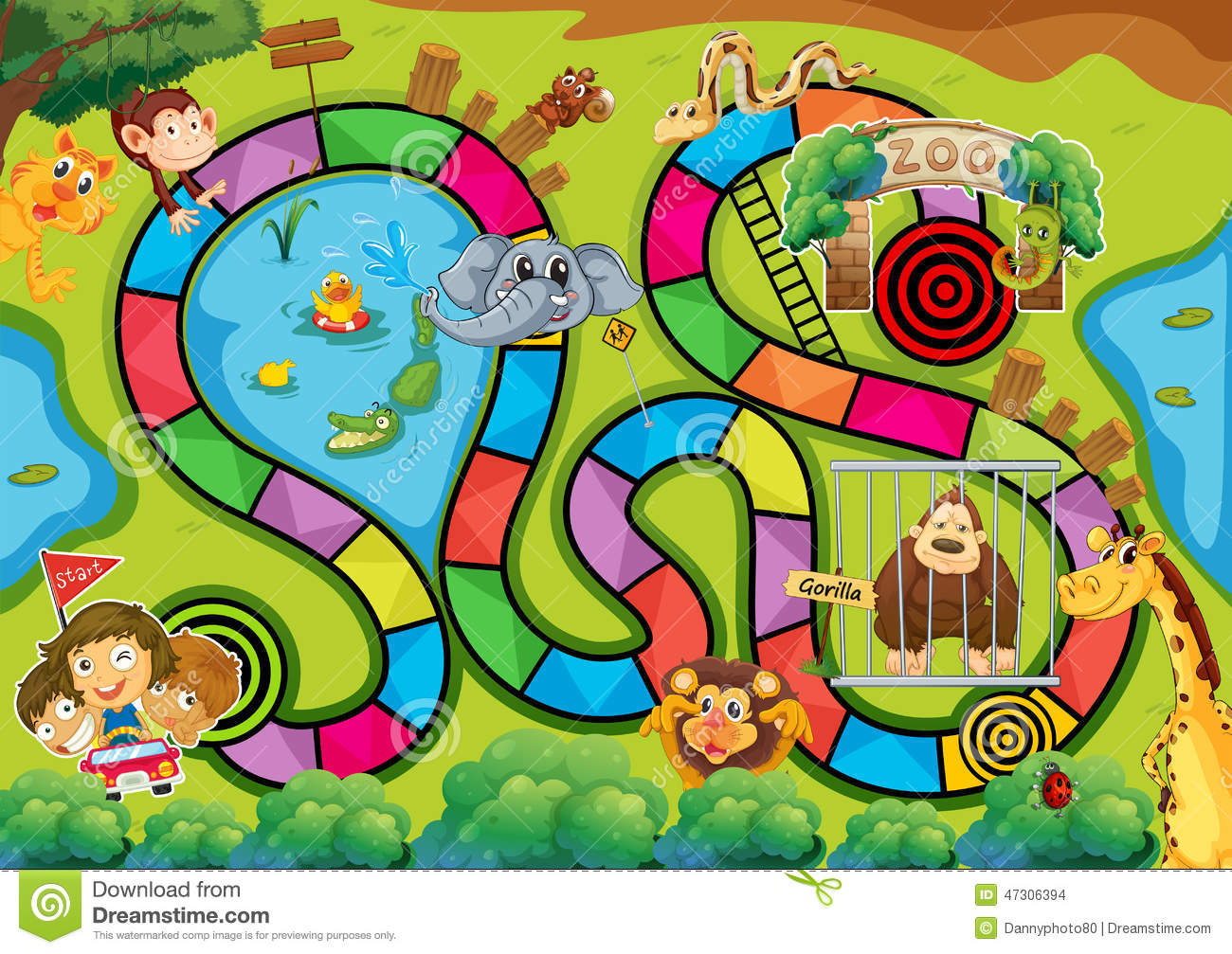 Board Game Stock Vector Image 47306394