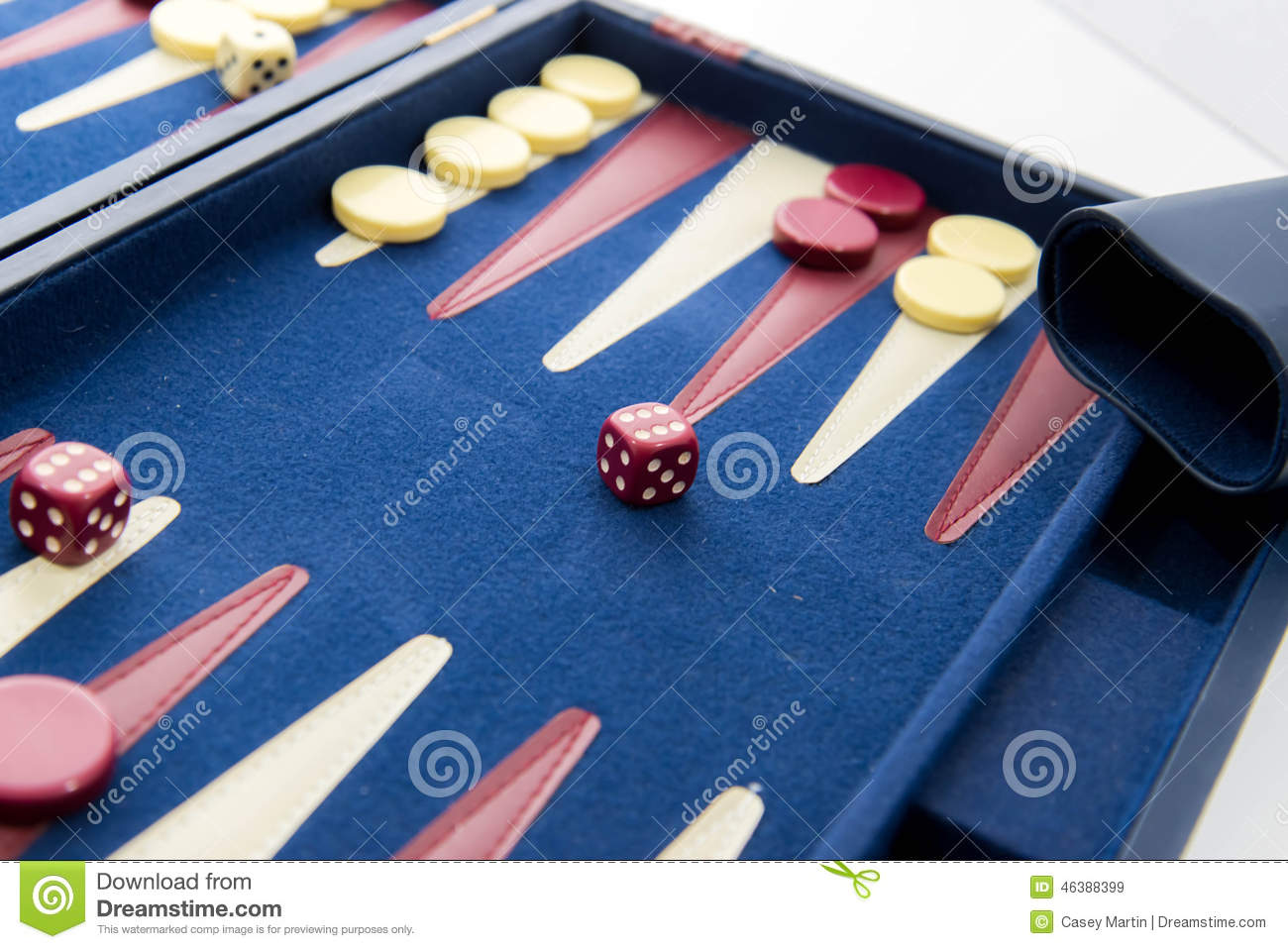 Case Blue Board Game : Board games backgammon in play stock image image of case play