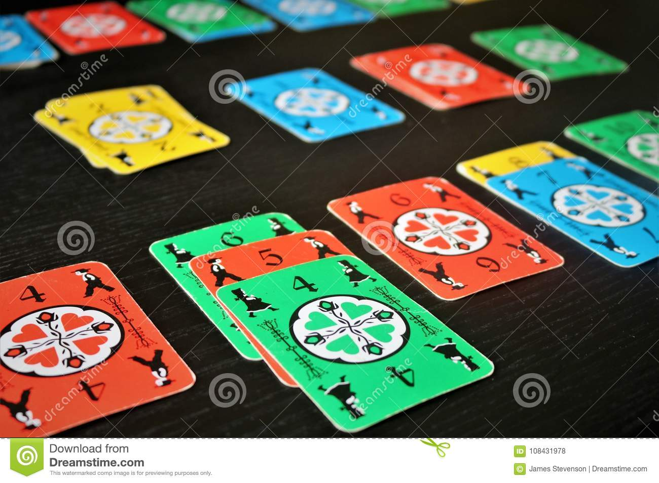 Dutch Blitz Is Good Card Game For Family Editorial Stock Photo