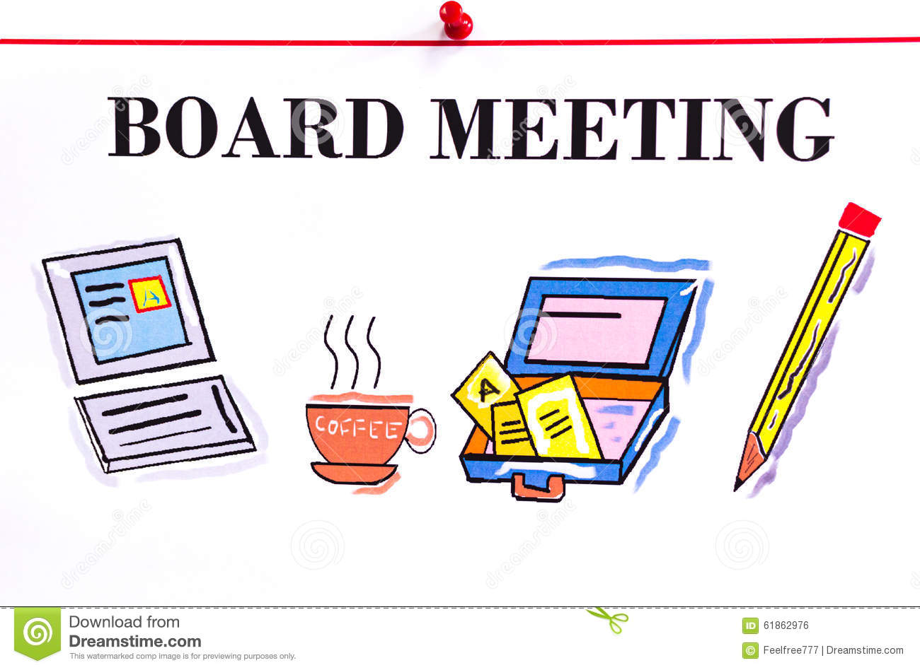 Board meeting stock illustration. Illustration of clear - 61862976